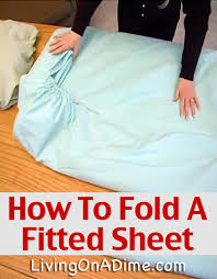 check out this easy step by step that shows you how to fold a fitted