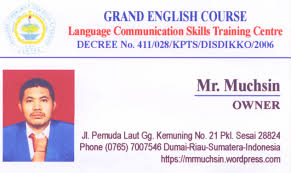 For Home Grand Stay Foreigners English Free Course Dumai