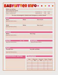 babysitter information sheet printable aed signs printable babysitter information sheet for infants