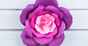 How To Make Paper Cones For Flower Petals Learn To Make Giant Paper Roses In 5 Easy Steps And Get A Free
