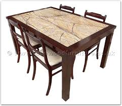 rosewood furniture range ffff8011r redwood marble top sq dining table 4 fabric chairs