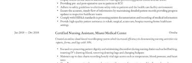 Iv Charting Example Certified Nursing Assistant Resume Writing Guide 12