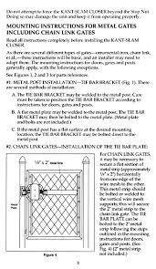 door closer installation. kant-slam gate and door self-closer installation instructions - page 3 closer