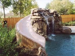 backyard pool with slides. Backyard Pool Water Features Custom Houston Rock Slides  For Inground Pools Backyard Pool With Slides