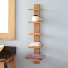 Bathroom Accessories Shelves Bastian Hanging Bathroom Teak Shelf Five Shelves Shelves Teak