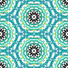 Bohemian Pattern Stunning Vector Ethnic Colorful Bohemian Pattern In Bright Colors With Big