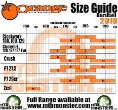 Qualified Downhill Mountain Bike Frame Size Chart Bike Frame