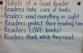 Habits Of A Good Reader Good Readers Reading Anchor