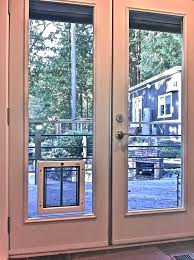 french doors with pet door dog for sliding glass medium size of patio built in custom
