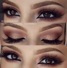 Image result for brown and gold eye makeup