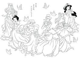 Free Printable Disney Princess Coloring Pages Christmas Colouring Of