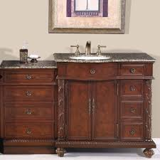 55 5 inch single bathroom modular vanity bath cabinet sink on the left 0213bb