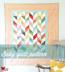 Baby Quilt Pattern Fascinating Sweet N' Sassy Baby Quilt Cluck Cluck Sew