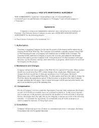 Web Site Maintenance Contract Web Development Contracts Legal