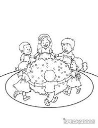 coloring pages ring around the rosie speakaboos worksheets