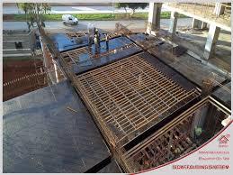 newly designed steel frame formwork for casting concrete slab