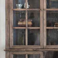 display cabinet reclaimed wood