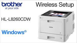 Set Up On Wireless Network Hll8260cdw Windows Version Youtube