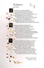 to autumn keats essay