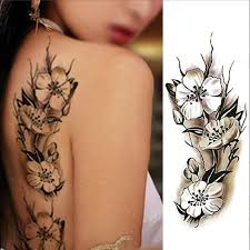 details about 2pcs feather flower temporary fake tattoo vintage arm art tatoo sticker diy