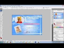 How To Make An Angel Baptismchristening Invitation Card Using Adobe