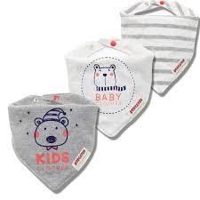 3pcs 100 Cotton Baby Scarf Muslin Burp Cloth Bandana Bibs Newborn Baby Boy Infant Girl Toddler Winter Scarf Waterproof Bib