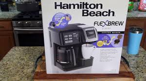Coffee Maker K Cup And Pot Hamilton Beach Flexbrew Coffee Maker Review Kcups Pot Youtube