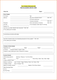 Company Vehicle Accident Report Form Template