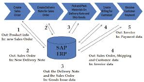 Information Flow In And Out Of The Erp System When Running