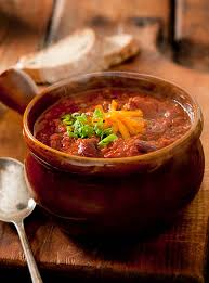 steaming bowl of chili. Brilliant Steaming Bowl Of Steaming Chili Con Carne Stock Photo And Of S