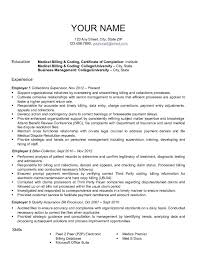Sample Resume Cover Letter For Medical Billing And Coding Example