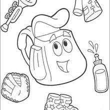 Small Picture Dora the explorer map and backpack coloring pages Hellokidscom