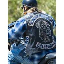 sons of anarchy biker vest with patches