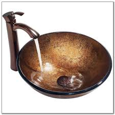 vigo liquid copper glass vessel sink