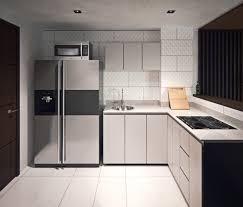 Modern Gray Kitchen Cabinets Kitchen Nice Gray Scale Small Minimalist L Shape Kitchen Cabinet