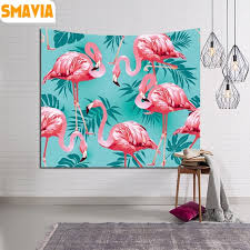 hanging beach towel. SMAVIA Flamingos And Plant Wall Hanging Tapestry Indian Mandala Rectangle Yoga Mat Tablecloth Beach Towel Travel A