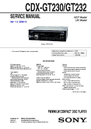 sony cdx gt23 service manual free download Cdx Gt130 Wiring Diagram cdx gt230, cdx gt232, cxs gt2313 service manual cdx-gt130 wiring diagram