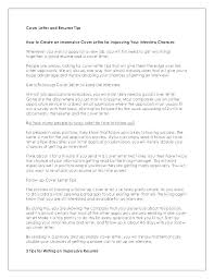 How To Make Cover Letters The Perfect Letter Build Resume Format