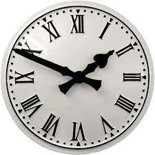 outdoor clock white convex clock outdoor clock thermometer wall mounted outdoor clock