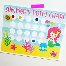 Potty Training Chart Mermaid Potty Chart Sticker Chart