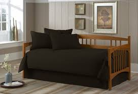 solid black 5 piece daybed ensemble twin size bed sheet
