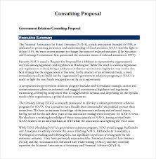 Sample Consulting Proposal Template Business