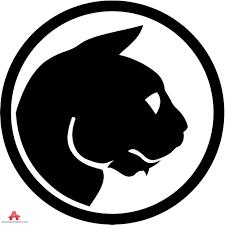 Cat Face Logo Circle Design