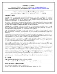 Investment Banking Resume Template Resume Template Info