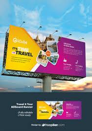 Tourism Banner Design Freepiker Travel Tourism Billboard Banner With Yellow