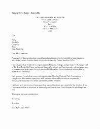 Cover Letter For Summer Internship Engineering Internship