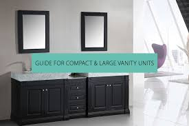 compact large vanity units