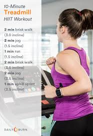 10 minute treadmill hiit workout