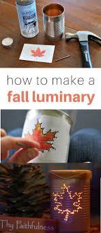 Easy Fall Craft Luminary