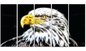 eagle metal wall art bald patriotic
